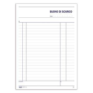 BLOCCO BUONI SCARICO DUPLICE COPIA 50X2 AUTORICALCANTE - BUFFETTI 6412C0000