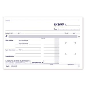 BLOCCO RICEVUTE CONDOMINIO TRIPLICE COPIA 33X3 AUTORICALCANTE - BUFFETTI 6309C0033