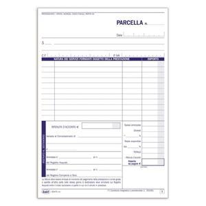 BLOCCO PARCELLE PROFESSIONISTI DUPLICE COPIA 50X2 AUTORICALCANTE - BUFFETTI 6347C0000