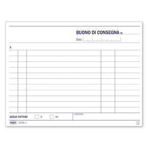 BLOCCO BUONI CONSEGNA DUPLICE COPIA 50X2 AUTORICALCANTE - BUFFETTI 6235C0000