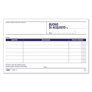 BLOCCO BUONI ACQUISTO DUPLICE COPIA 50X2 AUTORICALCANTE - BUFFETTI 6236C0000