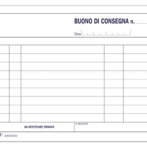BLOCCO BUONI CONSEGNA TRIPLICE COPIA 33X3 AUTORICALCANTE - BUFFETTI 6267C0033