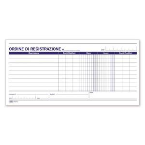 BLOCCO ORDINI REGISTRAZIONE 100 FOGLI - BUFFETTI 621800000
