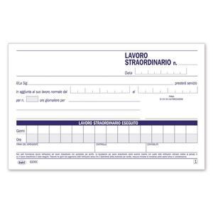 BLOCCO AUTORIZZAZIONE AL LAVORO STRAORDINARIO - BUFFETTI 6200C0000