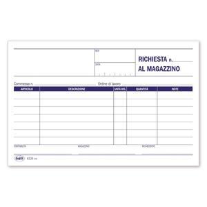 BLOCCO RICHIESTE MATERIALI MAGAZZINO - BUFFETTI 613400000