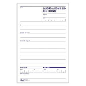 BLOCCO LAVORI DOMICILIO 100 FOGLI - BUFFETTI 612300000