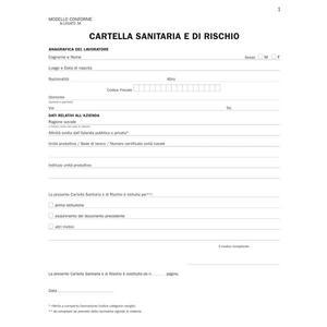 REGISTRO CARTELLA SANITARIA E DI RISCHIO DA 32  PAGINE - BUFFETTI 331900100