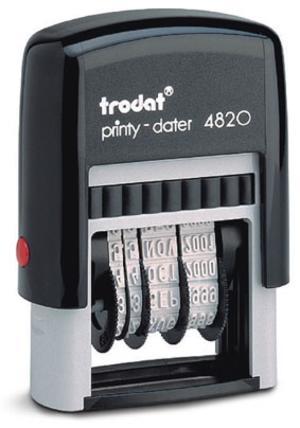TIMBRO DATARIO AUTOINCHIOSTRANTE TRODAT PRINTY CARATTERI DA 3,8 mm