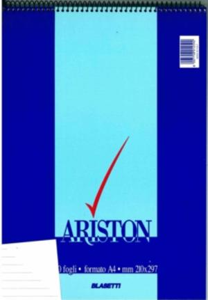BLOCCO NOTES ARISTON CON SPIRALE FORMATO A4 60 FOGLI A RIGHE