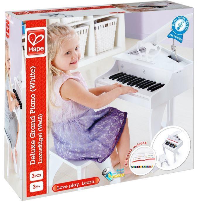 Pianoforte Elettronico a Coda DeLuxe in Legno Naturale Hape - Offerta
