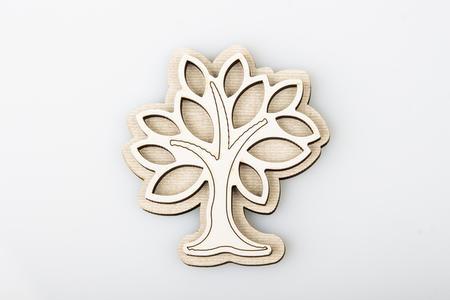 Magnete albero della vita in legno , linea Cuor Raggiante