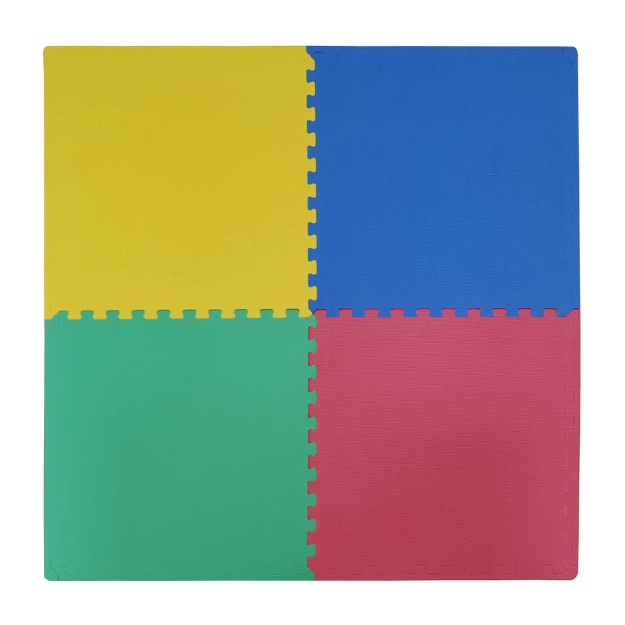 Tappeto puzzle per bambini quadrati 60 x 60 x 1,2 cm in soffice schiuma EVA