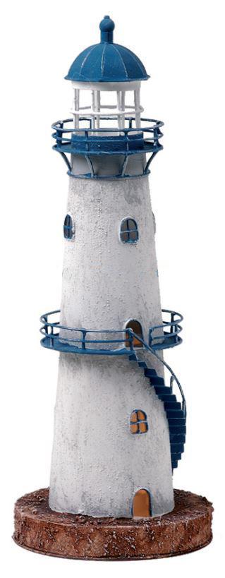 Faro Marinaro Modello con Lampada con Scaletta Blu Alto Cm 41 di Artesania Esteban - Offerta di Mondo Nautica 24