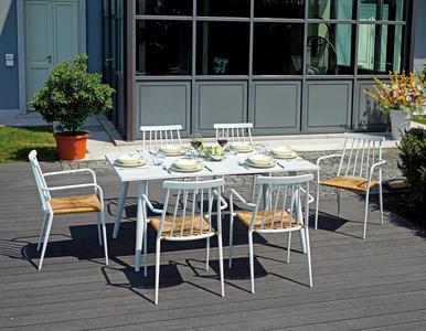 TAVOLO da giardino RETTANGOLARE ANDORA alluminio bianco 160×90 cm  RTA 43