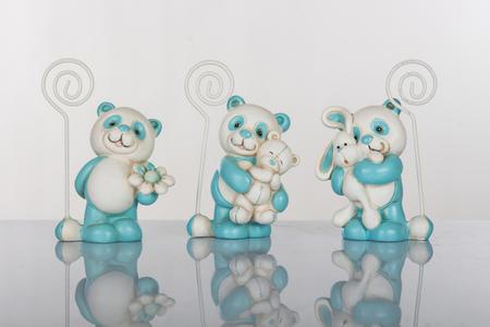 Panda blu memoclip in tre modelli assortiti, linea Tutti Panda