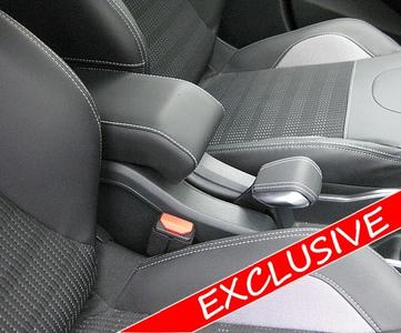 Adjustable DESIGN armrest for Peugeot 2008 (2013-2019) with colored stitching