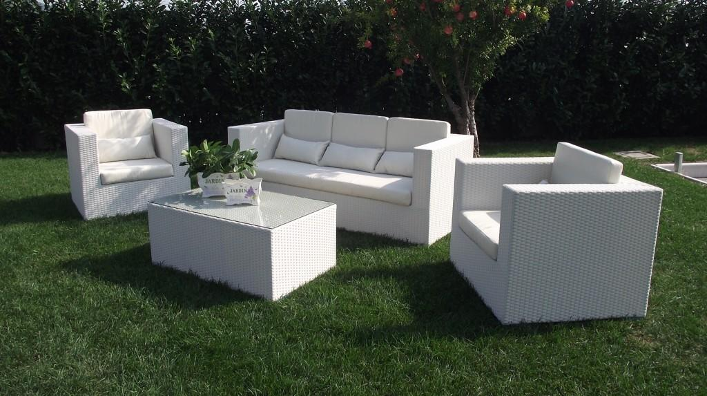Salottino da giardino in wicker salotto acapulcos con divano