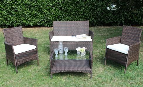 Salotto da giardino in wicker REAL MADRID in wicker MARRONE