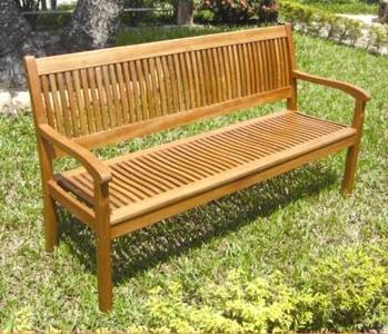 Panchina 3 posti in legno acacia cm 158