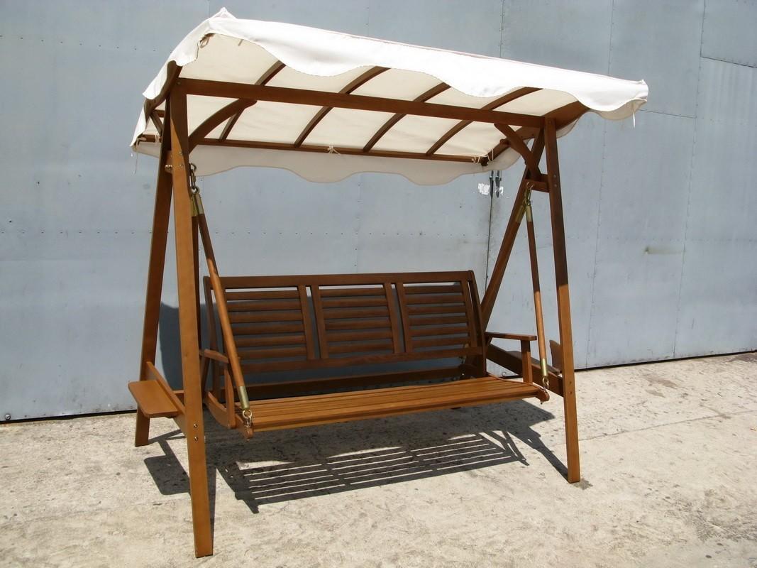 Dondolo Da Giardino In Legno : Dondolo da giardino 3 posti luigi in legno di acacia