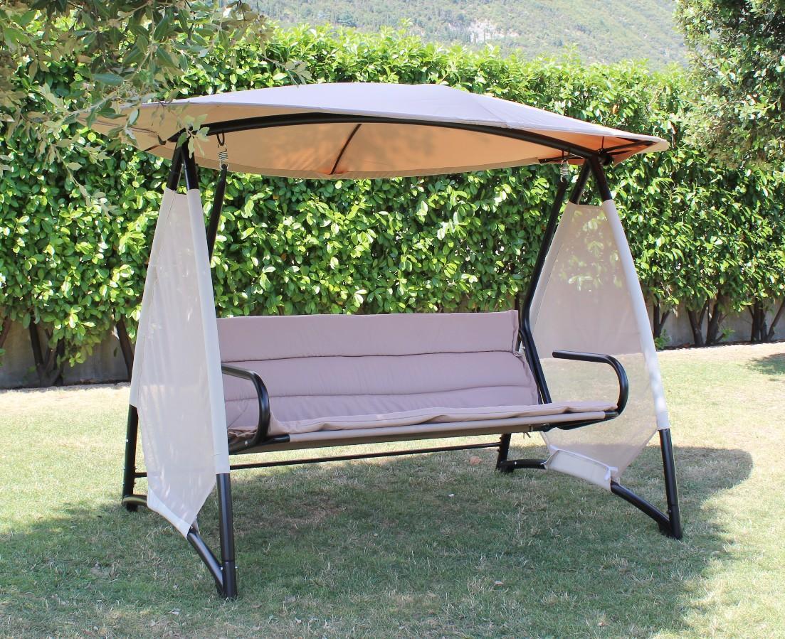 Dondolo Da Giardino Fai Da Te : Dondolo da giardino bardolino 4 posti comodi in metallo nero e