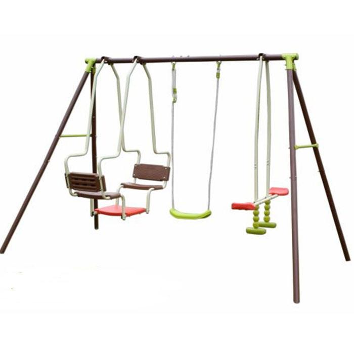 Altalena da giardino per bambini MINERVA 5 POSTI con cavalluccio dondolo doppio e altalena PESANTE