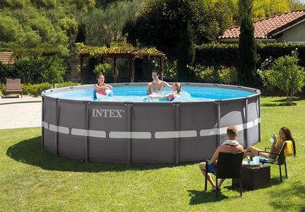 Piscina INTEX 26332 Ultraframe rotonda 549 x 132 cm con pompa a sabbia 26332 modello NUOVO EX 28332