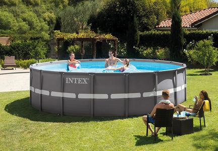 Piscina INTEX 26330 PLUS Ultra XTR Ultraframe rotonda 549 x 132 cm con pompa a sabbia 26330 modello NUOVO EX 28332