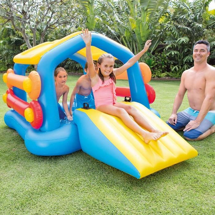 Gioco gonfiabile INTEX 58294 isola gonfiabile galleggiante con scivolo per bambini