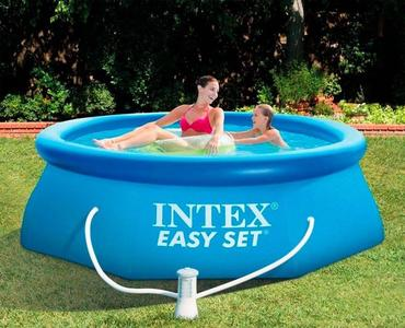 Piscina da giardino INTEX 28122 Easy Set piscina fuori terra gonfiabile rotonda 305x76