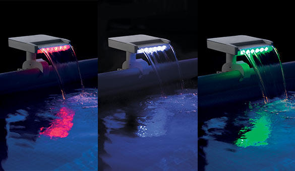 Cascata colorata LED AUTOMATICA INTEX 28090 lampada multicolor per piscine