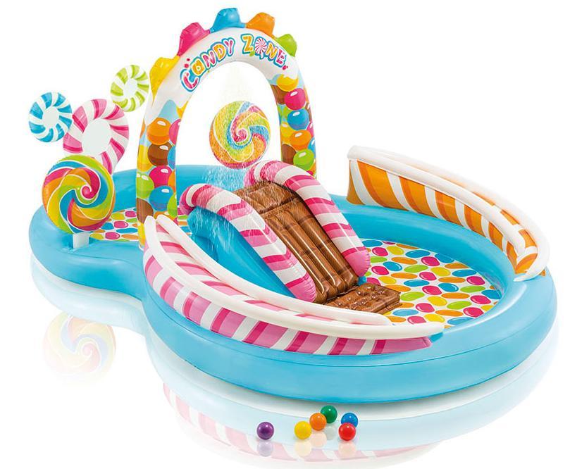 57149 parco giochi gonfiabile intex piscina caramelle con for Piscine gonfiabili per bambini