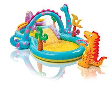 INTEX PISCINA GIOCO BIMBO BAMBINO DINOSAURI PLAY CENTER SPRUZZI 57135 INTEX