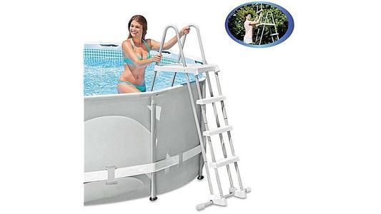 Scaletta Doppia per piscine con Gradini Staccabili 122 cm INTEX 28073