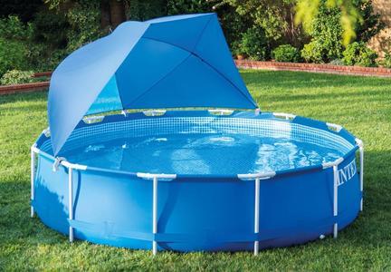 Ombrellone per piscina tettoia parasole per piscina INTEX 28050 UNIVERSALE cm 366/549