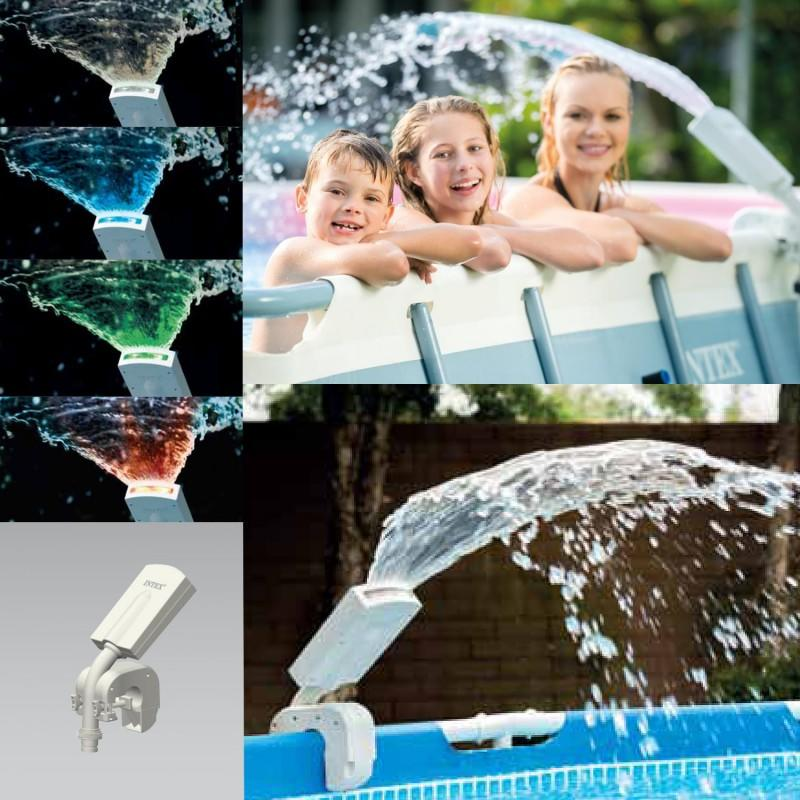 Fontana Spruzzino multicolor per piscine Intex 28089 frame e ultra frame rotonde e rettangolari