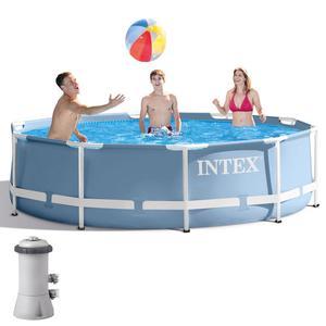 Piscina fuoriterra rotonda INTEX 28702 struttura acciaio 305x76cm + pompa filtro 28702