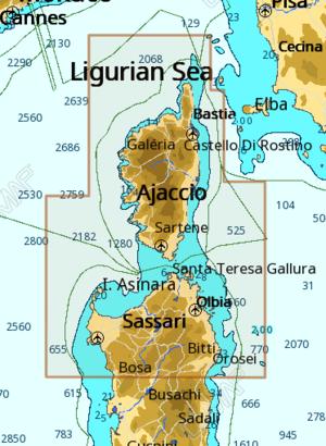 Cartografia C-MAP  Local Max-N+ Corsica e Sardegna Nord - Offerta di Mondo Nautica 24