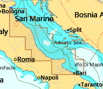Cartografia C-MAP Local Max-N+  Bari - Ravenna - Offerta di Mondo Nautica 24