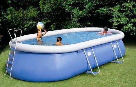Piscina ovale  autoportante New Plast TROPEA 550 KIT cm 545 x 350 H 115