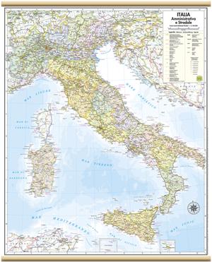 CARTINA DA MURO ITALIA 47 x 57
