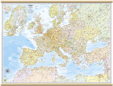 CARTINA DA MURO EUROPA 91 x 67