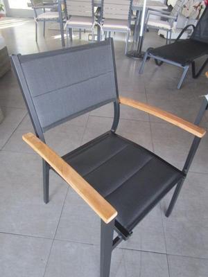 Sedia da giardino impilabile FORMENTERA in alluminio e textilene CHT 54
