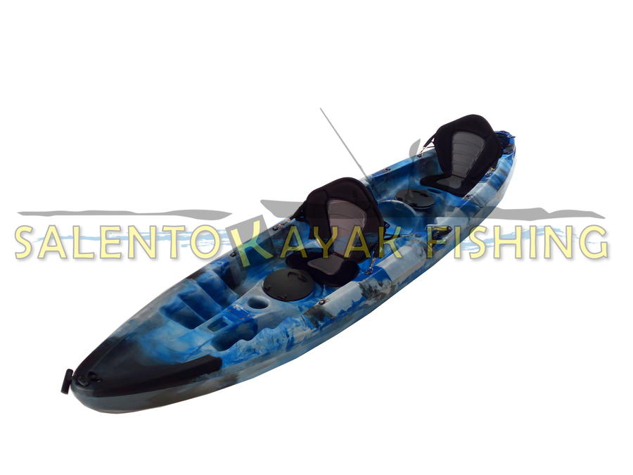 SKF Dolphin - Kayak biposto da pesca e turismo 370 cm - completo accessori