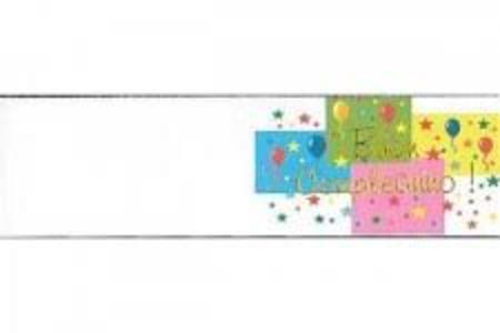 Set 5 biglietti bomboniera compleanno personalizzato