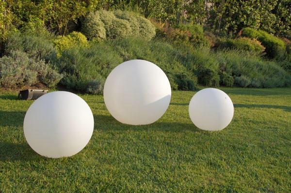 Sfera luminosa da giardino e locali illuminabile DESIGN a corrente COLORE BIANCO