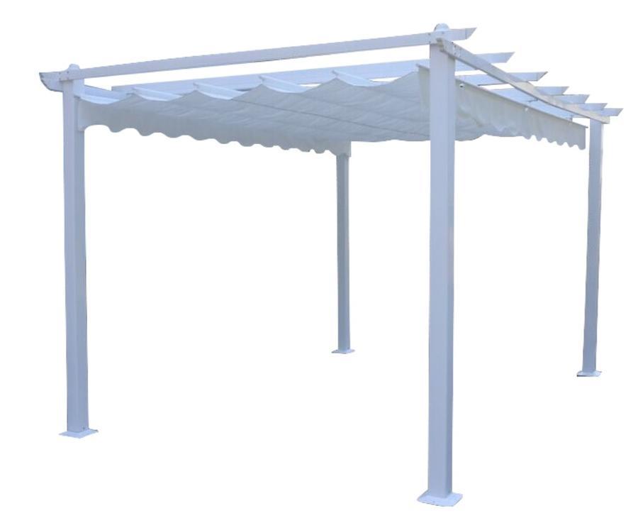 Gazebo pergola da giardino ARIETE 33 con binario richiudibile