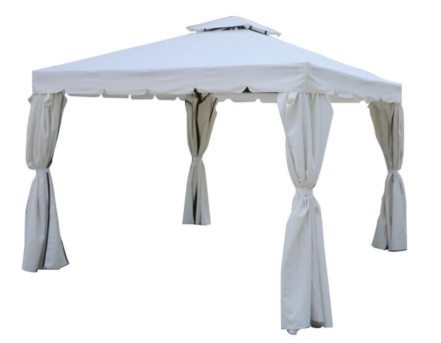 Gazebo da giardino VENEZIA 33 in alluminio completo di tende e zanzariere