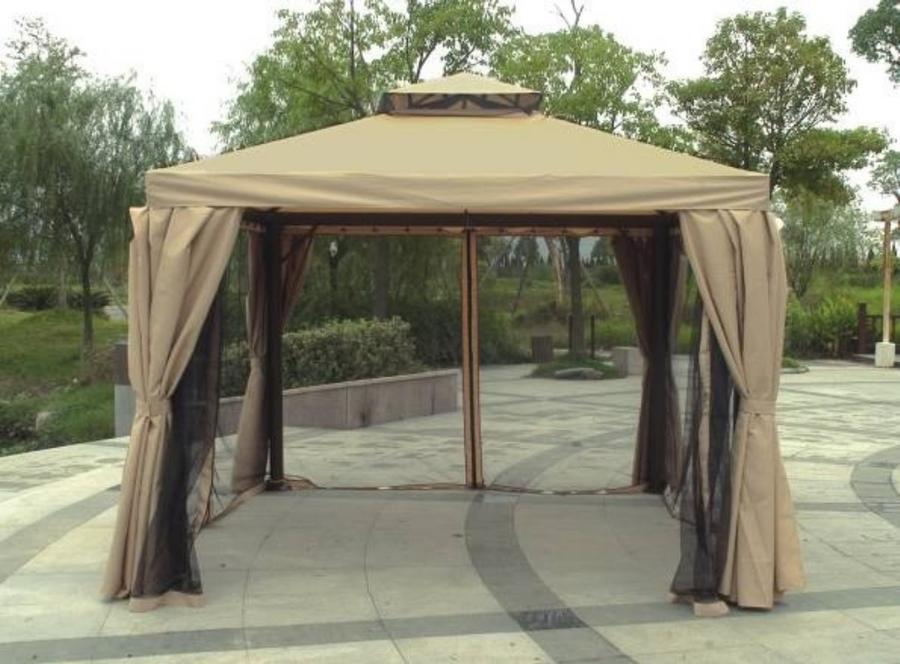 Gazebo da giardino ANANAS 33 in alluminio completo di tende e zanzariere PESANTE