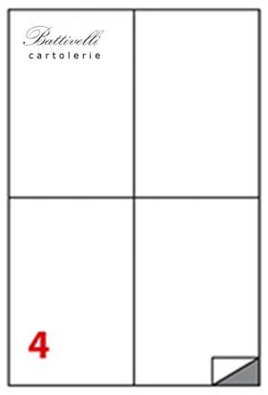 CONFEZIONE ETICHETTE IN A4 F.TO 105 x 148 CONF. 100 FF - 4 PER FOGLIO - C519